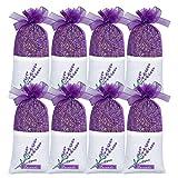 SCENTORINI Set de 8 Bolsitas Perfumadas Lavanda Seca Aromántica Regalo para Festivales Navidad Día de la Madre San Valentín Bautismos Ambientador para Armarios Ropa de Bebé