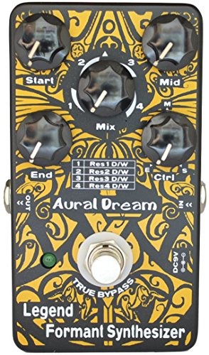 """Aural Dream Legend Formant Synthesizer Guitar Effect Pedal includes 9 Human Vowels,4 Resonance modes and transition voice based on expanding Wah similar to""""Talk box"""",True Bypass."""