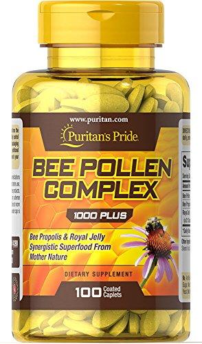 Puritan's Pride Bee Pollen Complex 1000 mg-100 Caplets