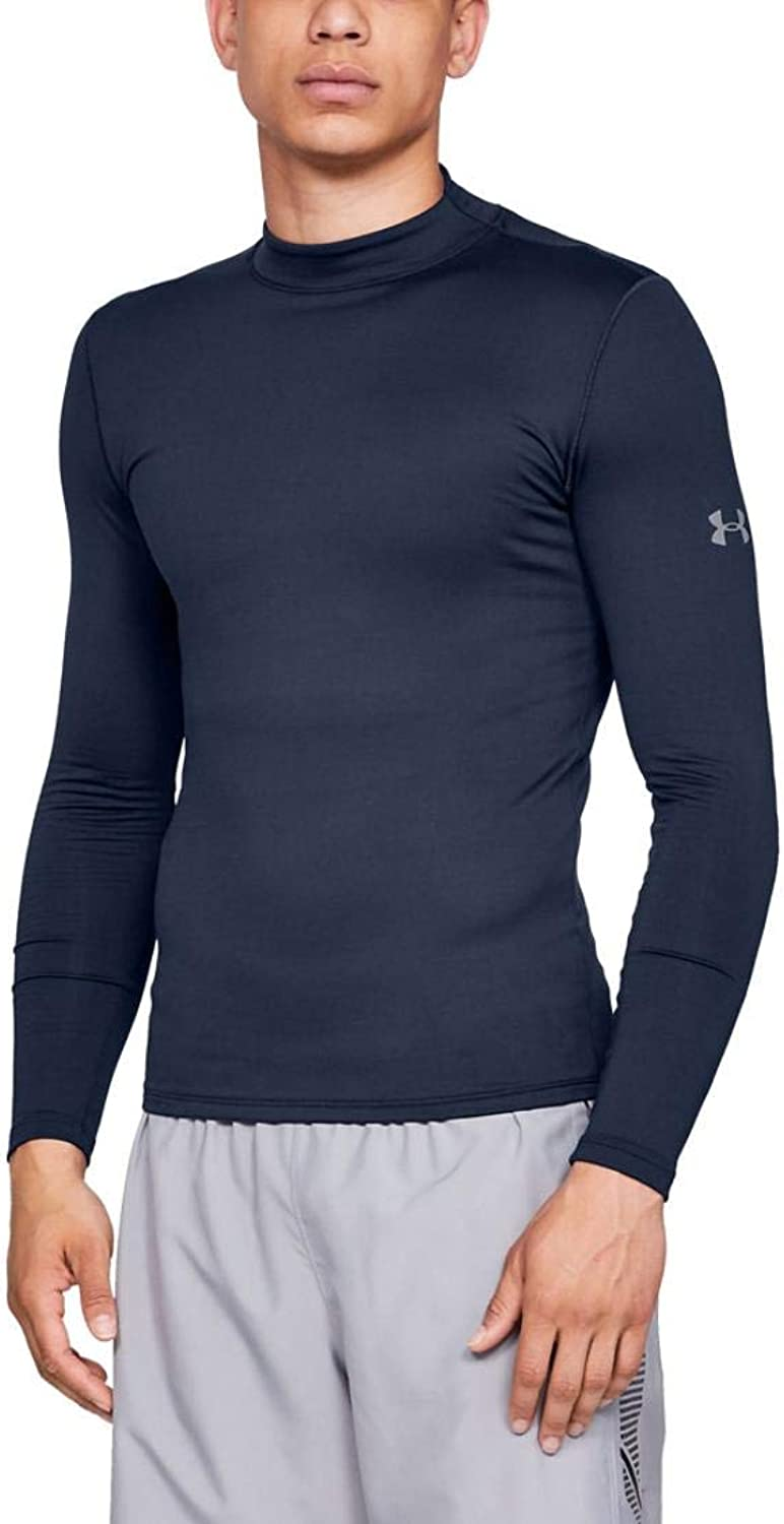Under Armour ColdGear Armour Fitted Mock LGT Midnight Navy