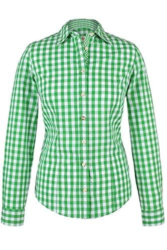 Almsach Damen Trachten-Bluse grün-weiß kariert 'Maria', hellgrün, 40