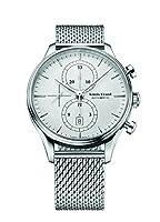 Louis Erard Men 's Heritageコレクションシルバーダイヤルクロノ78289aa21m Watch Milaneseストラップ