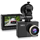 Nulaxy Dash Cam, 1080P Full HD Car Camera Recorder 170° Wide Angle, Super Night Vision, Motion Detection, G-Sensor, Loop Recording, Parking Mode, Supports up to 64GB microSD Card - Black