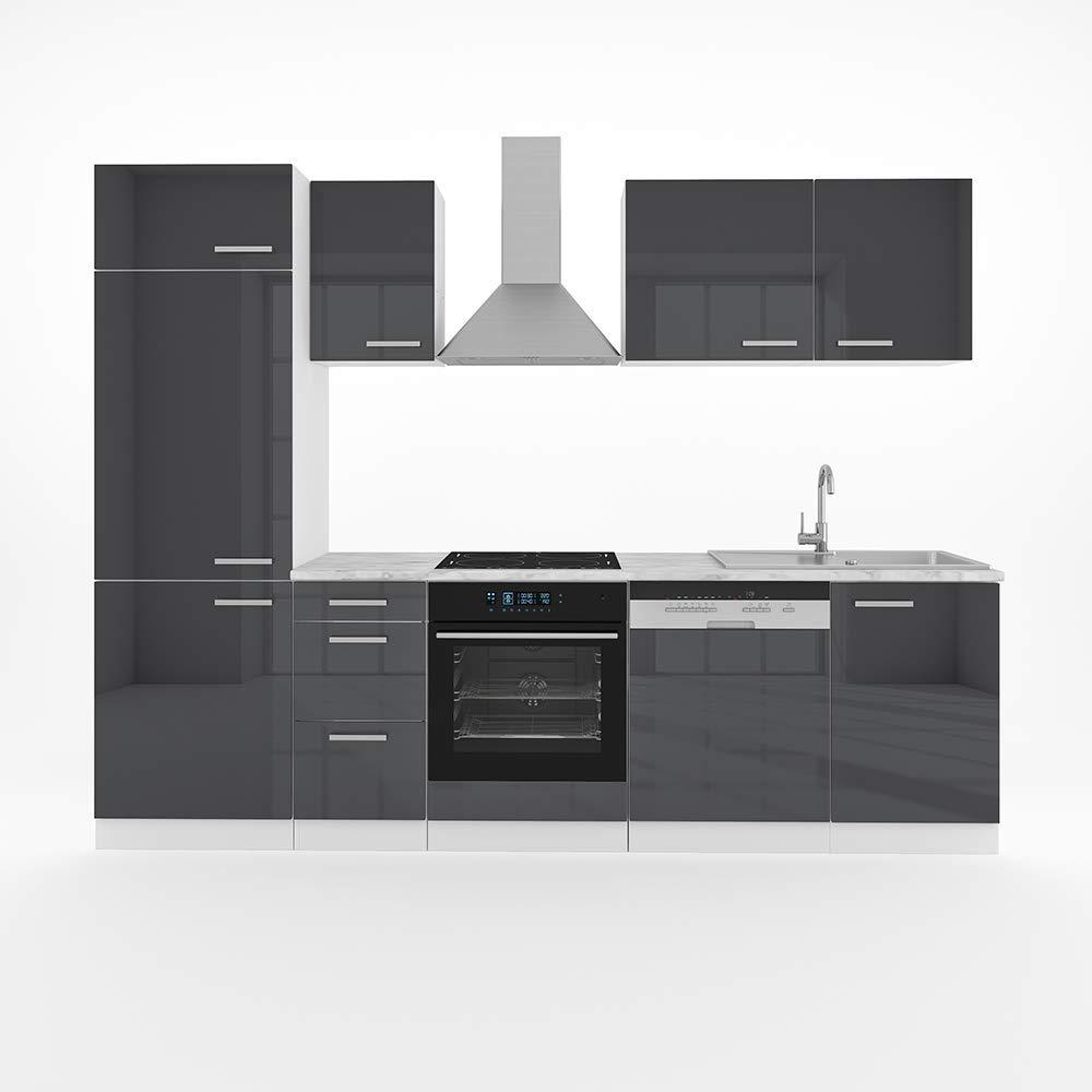Vicco Küche Optima 12 cm Küchenzeile Küchenblock Einbauküche Komplettküche  – Frei Kombinierbar