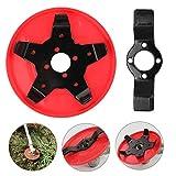AYUSHOP Cabezal del cortacésped con Funda Protectora de plástico,Herramienta de Cepillo de desbrozadora de cortacésped de 25 mm de diámetro, (Rojo)