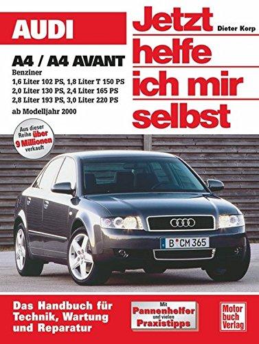 Audi A4 Benziner: 1,6 Liter 102 PS; 1,8 Liter T 150 PS; 2,0 Liter 130 PS; 2,4 Liter 175 PS; 2,8 Liter 193 PS; 3,0 Liter 220 PS (Jetzt helfe ich mir selbst)