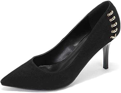 Snfgoij schuhe De Tacón Alto De damen Sexy schwarz schuhe De Salón De Trabajo Sexy WeddingDaphne schuhe Party Nightclub,schwarz-8.5cm-EU 38 UK 5.5
