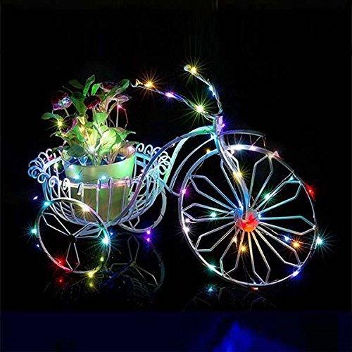 WYDM 10M Sting Lights Cadena de Luces Impermeables de 100 LED para decoración de Fiesta de cumpleaños y Navidad (Colorido)
