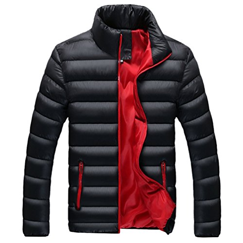 YuanDian Uomo Invernali Collare del Basamento Piumini Giubbotto Giacca Addensare Caldo Impermeabile A Prova di Vento Imbottito Leggero Piuma Cappotti (Senza t-Shirt)