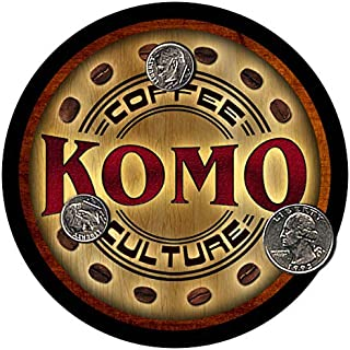 ZuWEE Komo Coffee Neoprene Rubber Personalized Drink Coaster Set