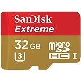 SanDisk Extreme Tarjeta de Memoria microSDHC de 32 GB para cámaras de Deportes de acción hasta 90 MB/s, Clase 10 y U3, Pack de 2