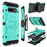 Zenic Case for Galaxy S10 Plus, Heavy Duty Shockproof Protective Case with Belt Clip Holster, Kickstand for Samsung Galaxy S10 Plus / S10+ 6.4 inch(Green)