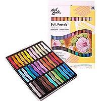 MONT MARTE Pastel Suave - 36 piezas - Tiza Pastel - Perfecto para pinturas coloridas y expresivas - Ideal para Principiantes, Profesionales y Artistas