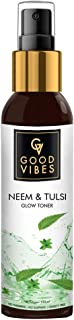 Good Vibes Neem & Tulsi Glow Toner 120 ml, Hydrating Light Weight Face Spray Toner for Acne Prone Skin, Suited for All Ski...