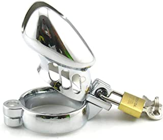 ZBZYXA Chastity Lock Male Stainless Steel Chastity Lock Adult Bondage Alternative Tool J+J Cage T-Shirt Trousers