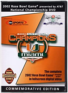 The 2002 Rose Bowl Game National Championship