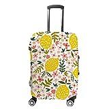Funda para maleta CHEHONG, color amarillo, limón, rosa, funda para carrito de viaje, lavable, fibra de poliéster elástica, a prueba de polvo