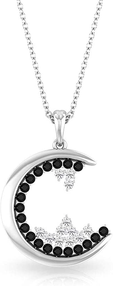Black Onyx Necklace 1 3 Diamond Cluster HI-SI Gold Raleigh Mall CT lowest price