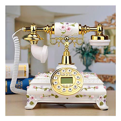 Teléfono Retro con Cable-Royal Victoria Teléfono - Teléfonos Decorativos de la Vendimia Figurine Cafe Bar Ventana de la Ventana Modelo para la decoración del Escritorio del hogar