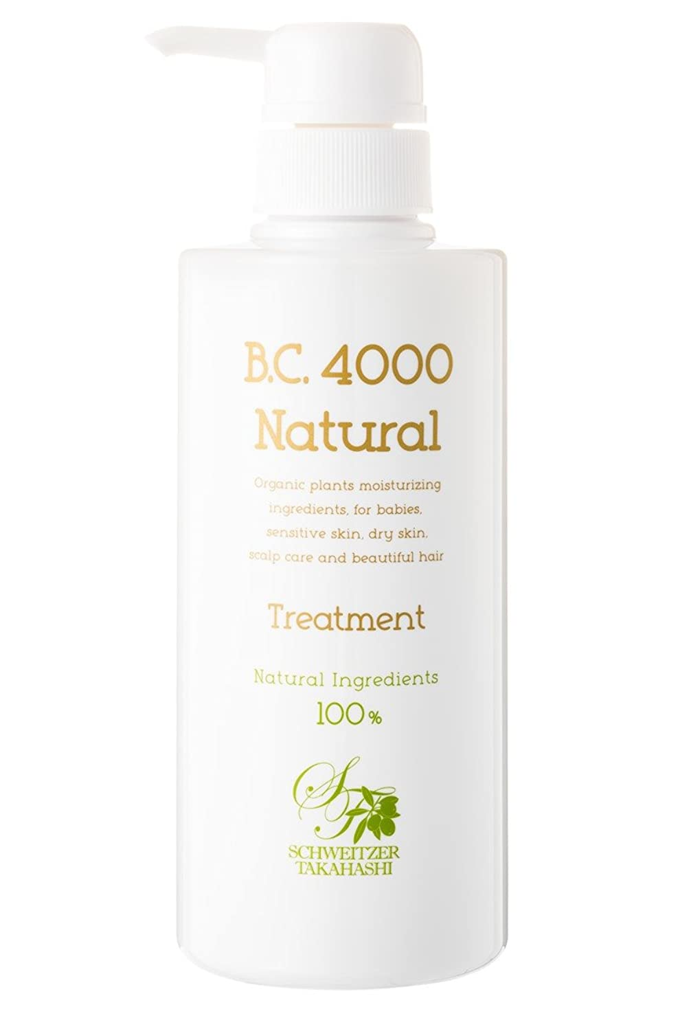 応援する誰の花輪B.C.4000 100%天然由来 ノンシリコントリートメント ナチュラル オーガニック 植物エキス配合 (400g)