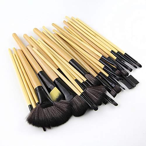 32 pinceaux de maquillage, outils de beauté du bois