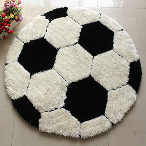 ROSE GUO Fil Extensible Doux + Filament Modèle De Football Garçon La Chambre des Enfants Rond Chaise D'ordinateur Tapis,120 * 120cm