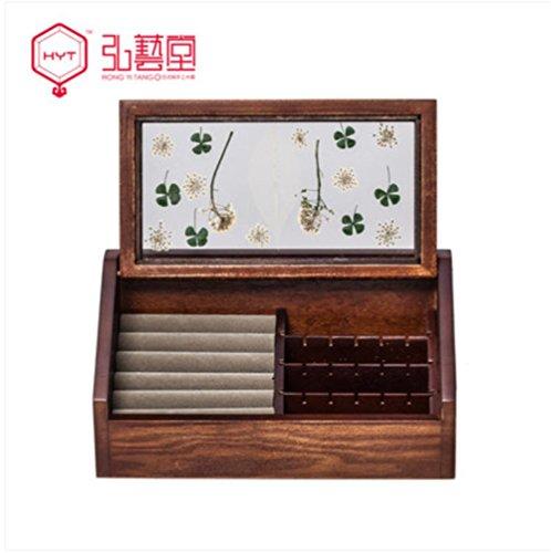XYLUCKY Boîte à bijoux en bois Boîte à bijoux petite boîte de rangement Européenne Creative Trompette Antique Retro