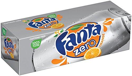 Fanta Fridge Zero Pack Cans, Orange, 12 Ounce (Pack of 12)