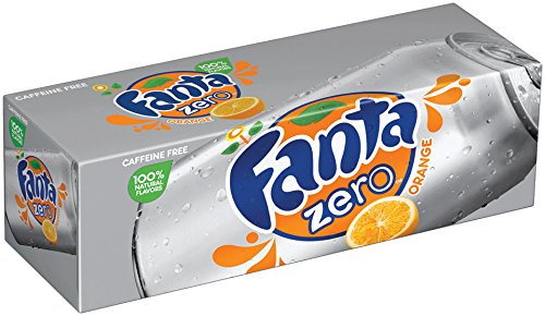 Fanta Fridge Zero Pack Cans, Orange, 12 Ounce (Pack of 12)