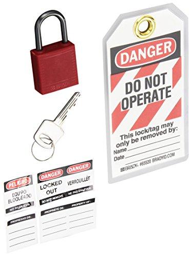 Brady Compact Lockout Tagout Padlock Personal Safety Kit - 123143
