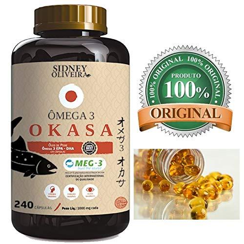 Omega 3 saúde do coração e cerebro EPA/DHA OKASA 1000 MG