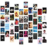 Wall Collage Kit Aesthetic Room Decor, Posters for Room Aesthetic, 50PCS 4x6 Inch Album Cover Posters Pictures for Bedroom Wall Decor for Teen Room Decor