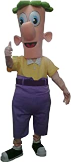 Ferb of Phineas and Ferb Mascot Costume Character Cosplay Party Birthday Halloween Nude