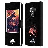 Head Hülle Designs Offizielle Jurassic World Vulkan Flucht Vektor Kunst Leder Brieftaschen Handyhülle Hülle Huelle kompatibel mit BlackBerry DTEK60