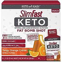 40-Count Slimfast Keto Fat Bomb Orange Cream Shot