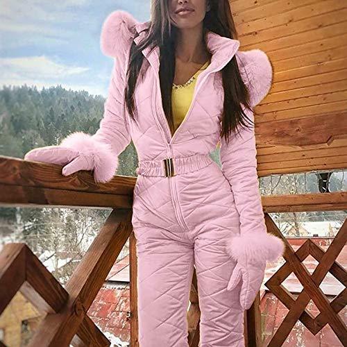 Metyere Women Waterproof Jumpsuit ski Suit Women Snowsuit Outdoor Sports Pants Ski Suits Winter Warm Skianzug wasserdichte und Overall Set für Damen Warmer Schneeanzug Erwachsene Damen Skianzug Damen
