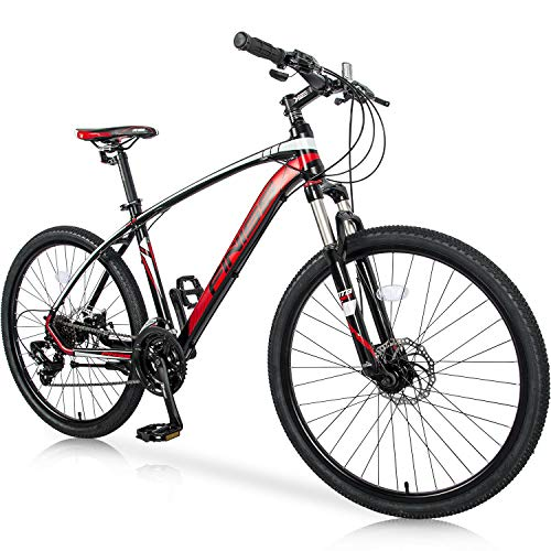 Cheap Merax 26 Mountain Bicycle with Suspension Fork 24-Speed Mountain Bike with Disc Brake, Lightw...