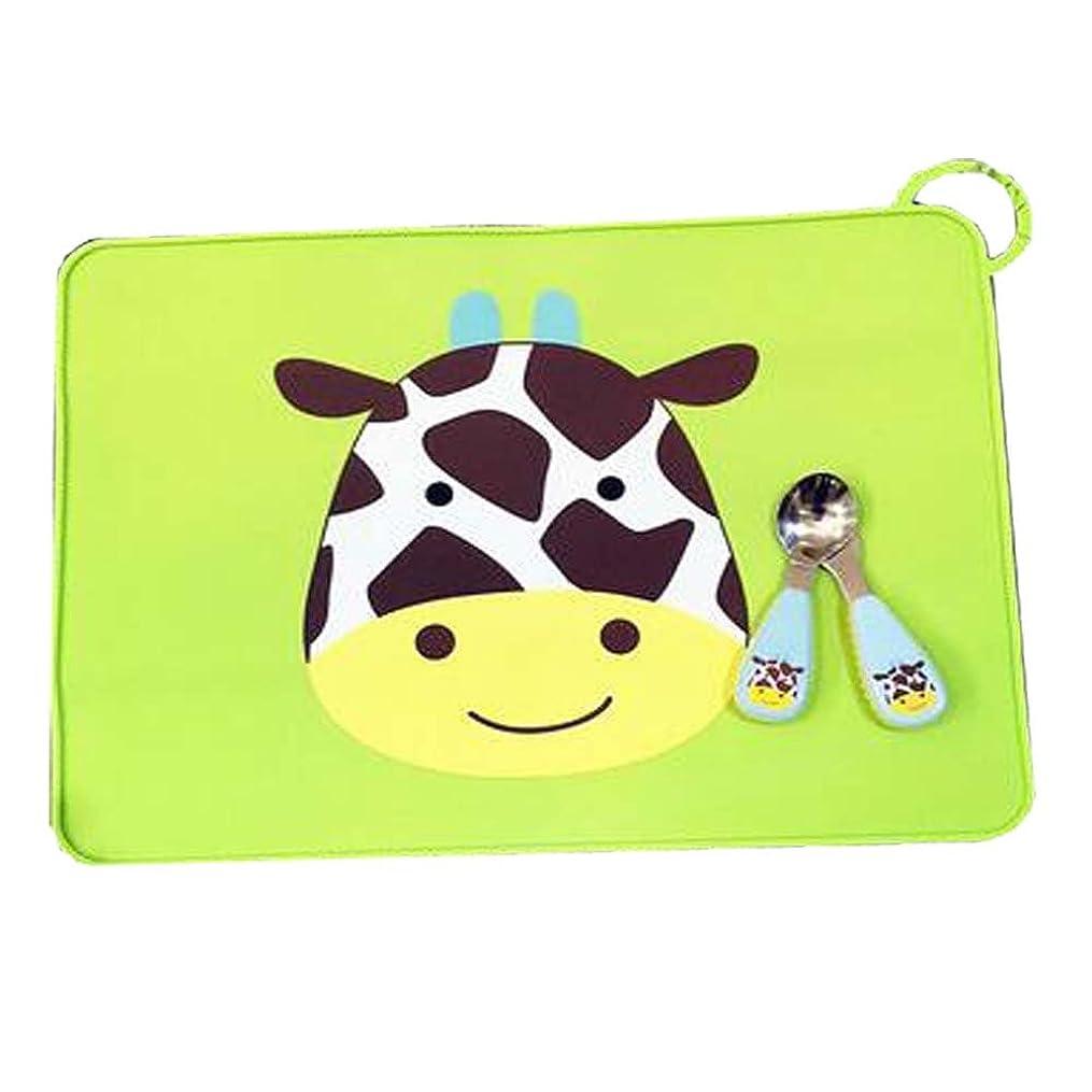 くま嘆願サバント古典的な牛のパターンスタイルPlacemats/子供用テーブルマット/グリーン