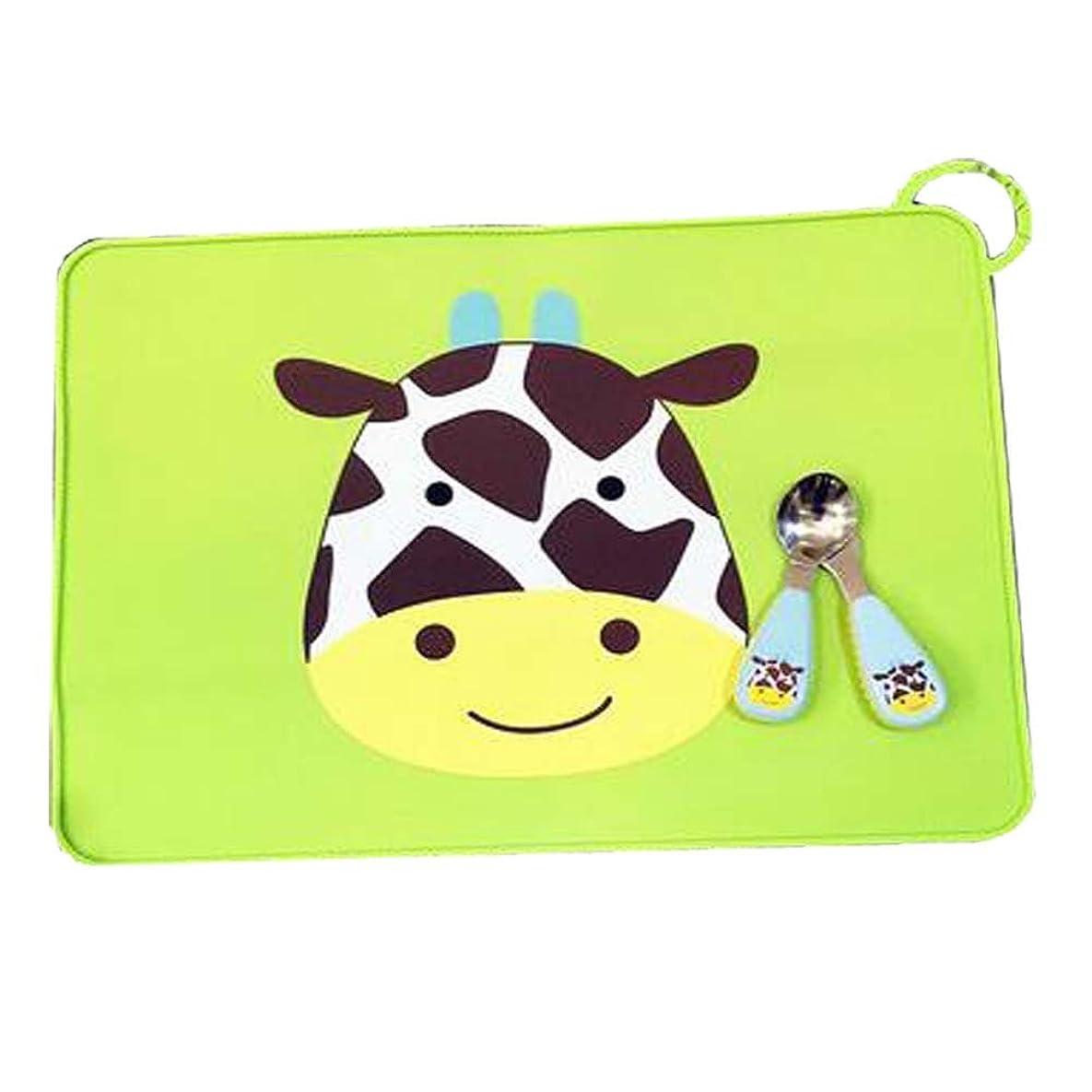 エキスパートバンジョー金曜日古典的な牛のパターンスタイルPlacemats/子供用テーブルマット/グリーン