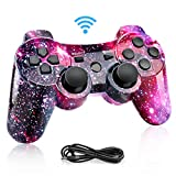 Powcan Mando Inalámbrico PS3, Bluetooth PS3 Gamepad Controller Doble...