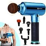 Beheizbare Massagepistole   Massagegerät ideal für Beine, Rücken, Bauch & Füße   Massage Gun...