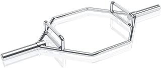 オリンピックの六角棒、スクワット、デッドリフト、シュラグ、および電源プルのための長さ58インチの2つのハンドルが付いている頑丈な固体純粋な鋼鉄重量挙げのトラップバー/ 800 LBS容量