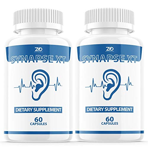 (2 Pack) Synapse XT for Tinnitus Supplement Pills, Premium Synapse XT Relief Supp Capsules for The Original Brand Only (120 Capsules)