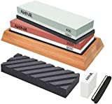 Best Chisel Sharpeners - Knife Sharpening Stone Set - 4 Side Grit Review