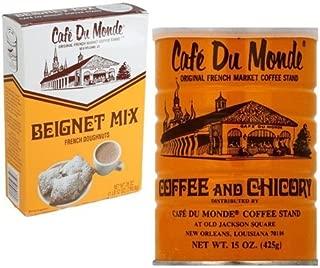 Cafe Du Monde Coffee And Beignet Mix Set - One Can Of Cafe Du Monde Coffee And Chicory And One Box of Beignet Mix by Cafe Du Monde