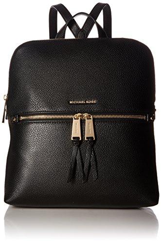 MICHAEL Michael Kors Rhea Medium Slim Backpack (Black)