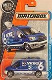 Matchbox 2017 MBX Adventure City '14 Ford Transit News Van 9/125, Blue