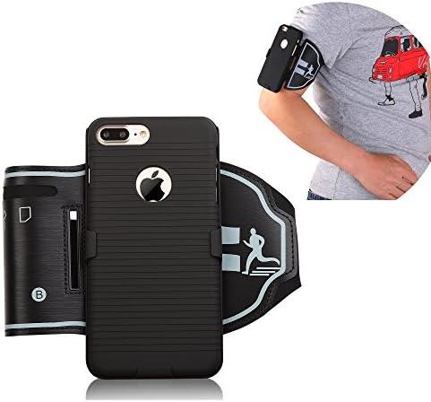 igooke iPhone 8 Plus 7 Plus Sports Armband Hybrid Hard case Cover with Sports Armband Combo product image