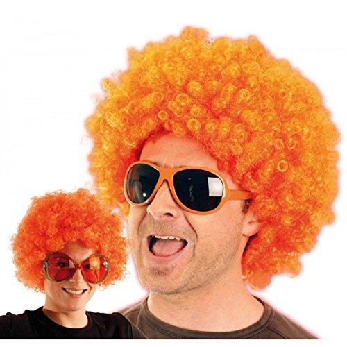 Party Pro- Perruque, Unisexe Adulte, 865507, Orange, Taille Unique