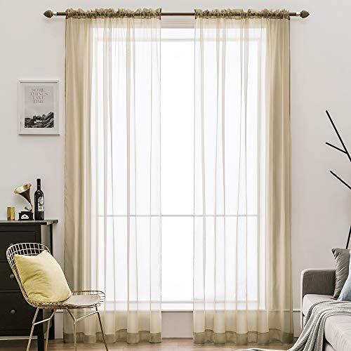 cortinas salon modernas 2 piezas marron